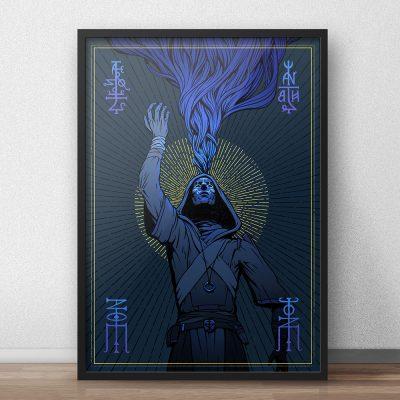 alternative framing for the major arcana mage card illustration