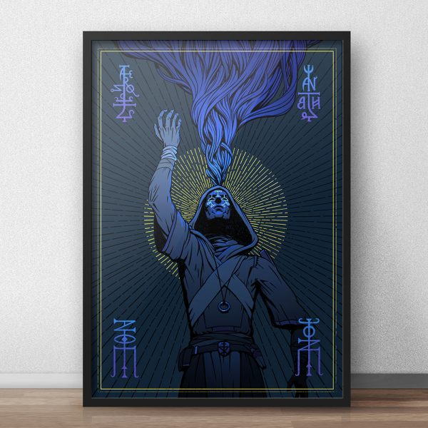 alternative framing for the major arcana mage card illustration