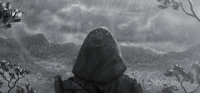 aynbath rain sequence, dark graphic novel