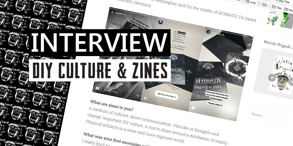 interview about dark art and zine culture