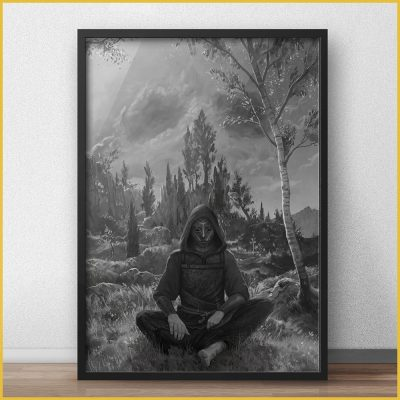 dark premium art print with the torn