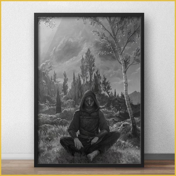dark premium art print with the torn