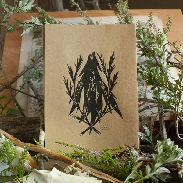 mugwort magick - lino art print